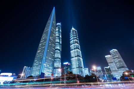 Modern Architecture scenery at night Фото со стока