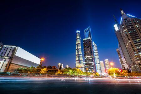Shanghai night view Фото со стока - 128366538