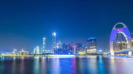Guangzhou architecture night view