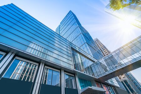 Suzhou moderne stadsarchitectuur kantoorgebouw Stockfoto