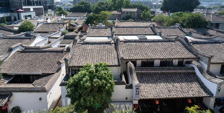 aerial view of Fuzhou Sanfang Qixiang