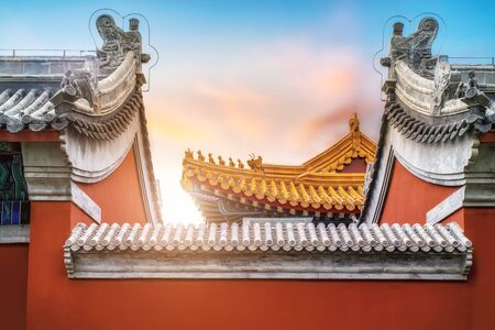 Chinese style ancient building eaves