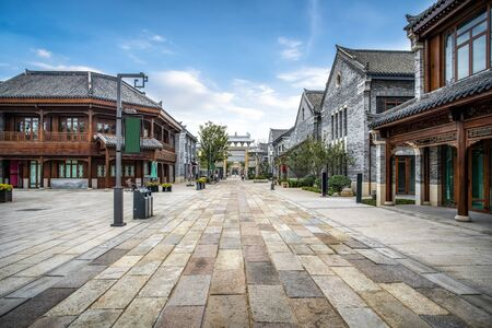 Street view of Chinese architecture in Jimo Ancient City, Qingdao