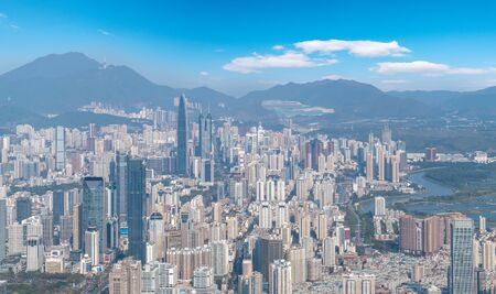 Aerial photography of Shenzhen