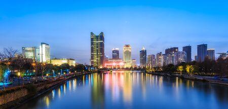 Chengdu architectural landscape at night