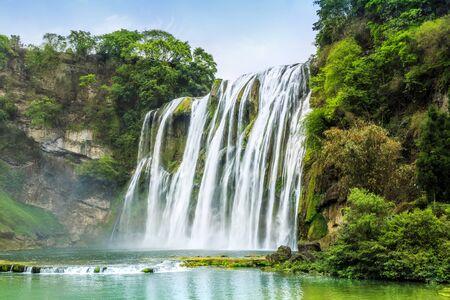 Natural landscape of Huangguoshu waterfall