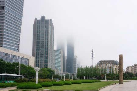 Qingdao coastline modern architectural landscape