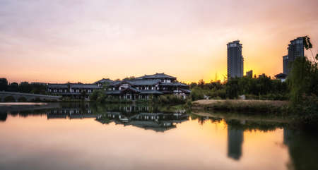 Garden landscape in the hometown of King Xiang in Suqian, Jiangsu