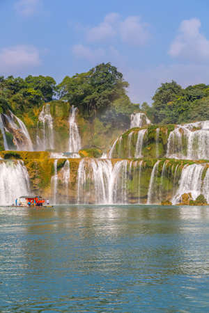 Cornucopia waterfall in Guangxi, China Stock Photo