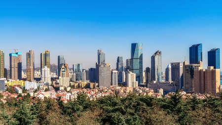 Aerial photography of Qingdao urban architectural landscape 版權商用圖片