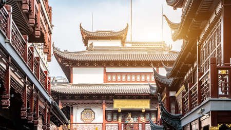 Chinese style ancient architecture landscape