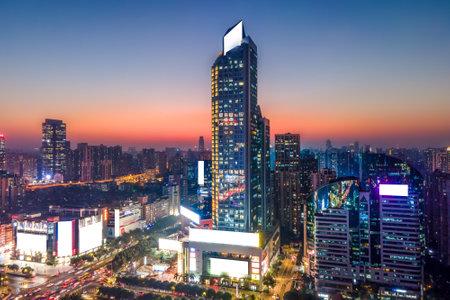 Aerial photography of Guangzhou city skyline 免版税图像