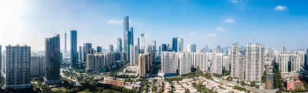 Aerial photography of Guangzhou architectural landscape skyline