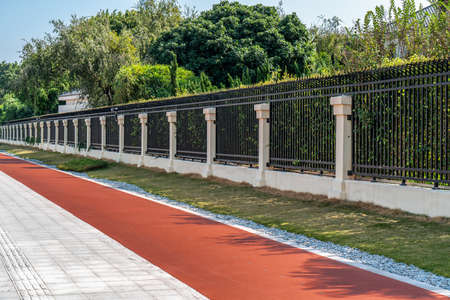 Fitness trails and landscaping 版權商用圖片