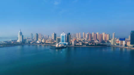 Aerial photography of the architectural landscape of the old western city of Qingdao