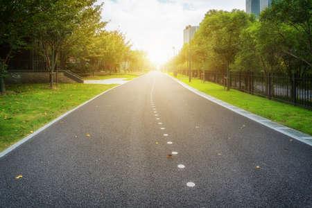 Asphalt road and outdoor natural landscape