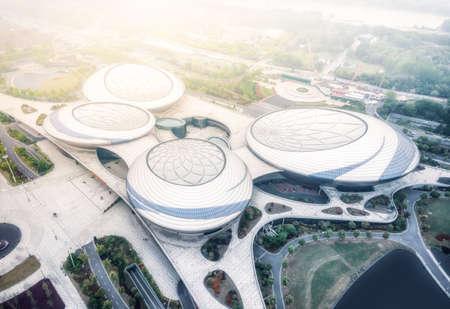 Aerial photography of Nanjing Grand Theater, Jiangsu