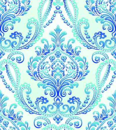 Vector Classic Damask Seamless Pattern Illustration