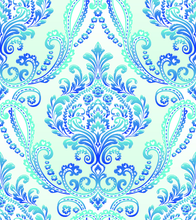Vector Classic Damask Seamless Pattern Stock Illustratie