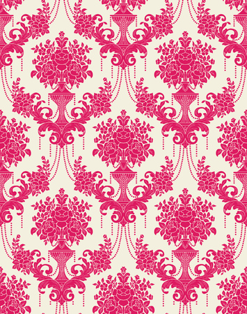 Vector Classic Damask Seamless Pattern 向量圖像