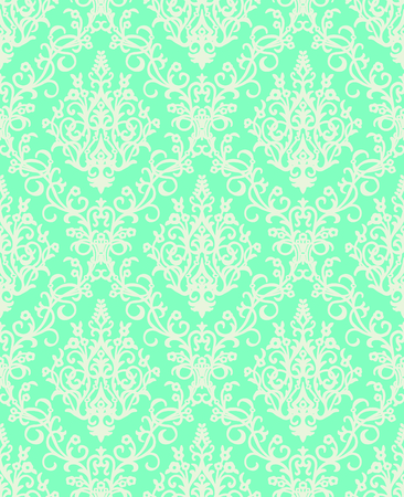 Vector Classic Damask Seamless Pattern Illustration