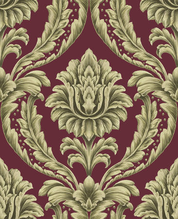 Classic Damask Seamless Pattern 版權商用圖片