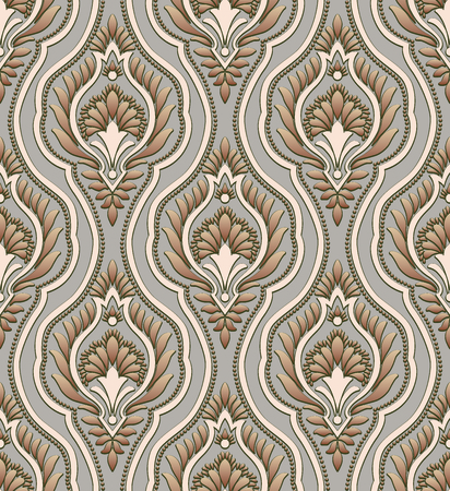 Vector Classic Damask Seamless Pattern Vettoriali