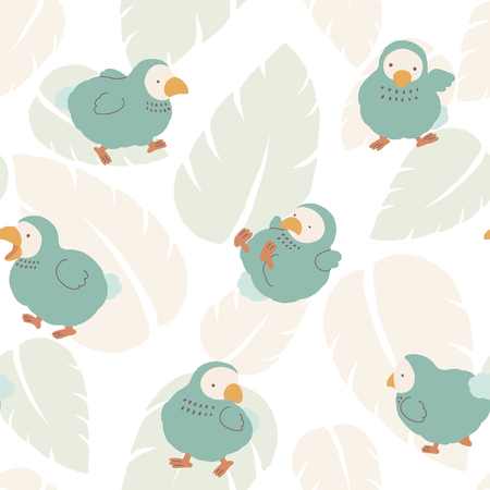 Cute Dodo bird illustration pattern
