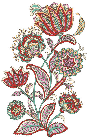 Blume im Paisley-Stil