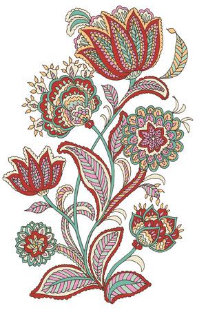 Flor estilo Paisley