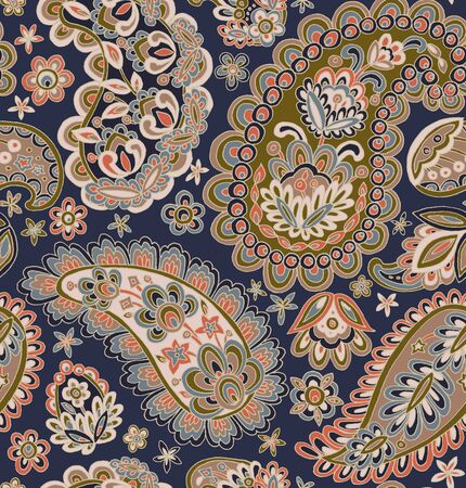 Modèle sans couture : Paisley Style : Bordure