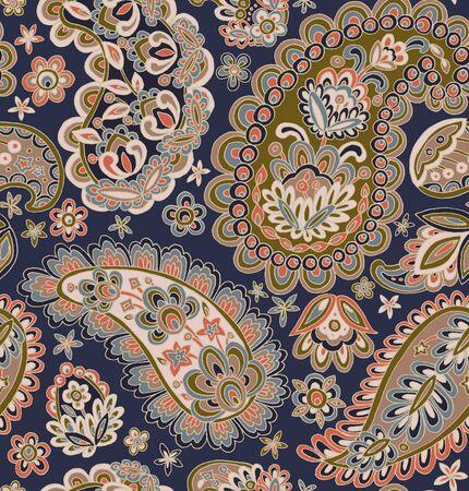 Nahtloses Muster: Paisley Stil: Bordüre