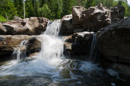 A Beautiful Waterfall in Siberia photo