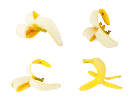 rind: Banana rind isolated on a white background.set