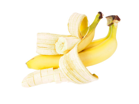 soft tissue: Bunch of ripe bananas on white background. isolated