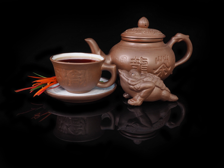 resplendence: Clay, hand made set for the Chinese tea ceremony.