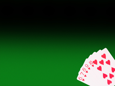 straight flush: Straight Flush playing cards on the poker table . casino concept