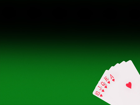 royal flush: Royal flush playing cards  on the poker table. casino concept