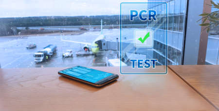 Digital PCR test in the airport.