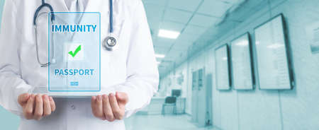 Doctor and health passport . Healthcare And Medicine concept.