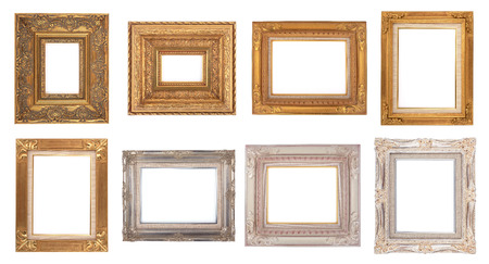 Classic Old Frames, Photo frame isolated on white background