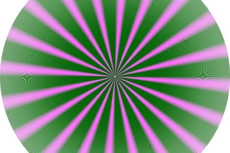 radius: Wheel pink green radius Stock Photo