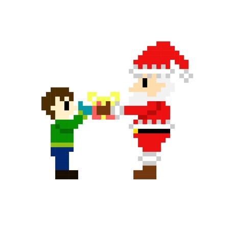 8bit: 8bit pixel art di Babbo Natale