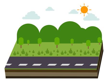 prairie: road and prairie