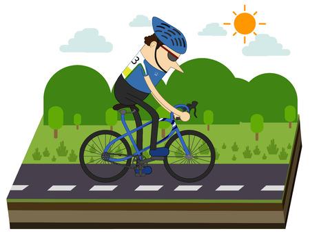 fahrradrennen: Radfahrer und Fahrradrennen
