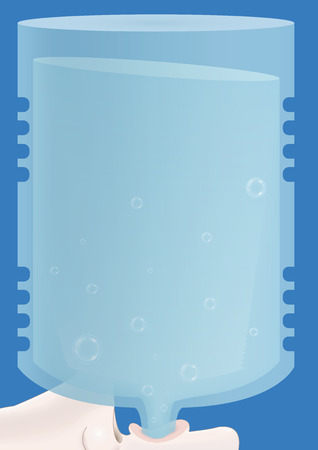 thirsty: background plastic bottles drink water Illustration