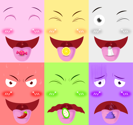 tongue receive flavor vector