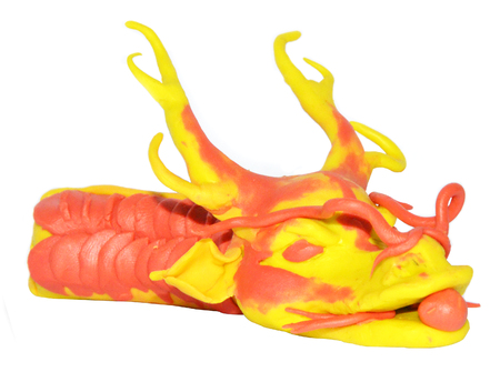 3d mode: dragon chinese plasticine model