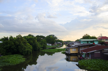 view riverside home in thailand