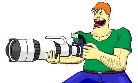 cameraman hardcore and dslr super zoom